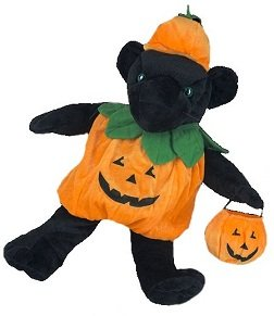 Kürbis Teddybär Kostüm - Halloween - 40cm - Teddybär-Klamotten - Teddybärkleidung - Build a (Bear Build A Kostüme)