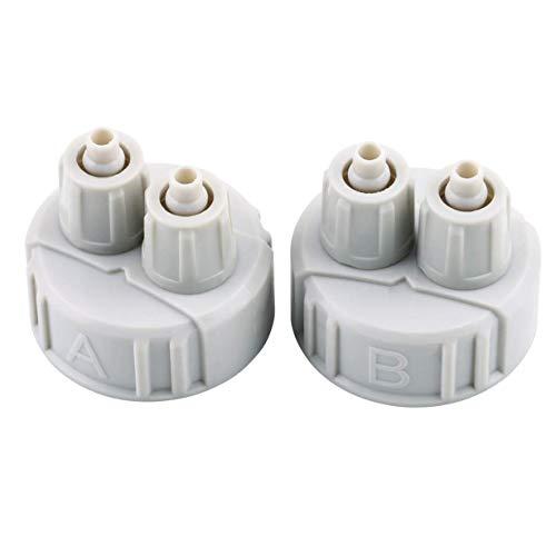 Flaschenkapsel, DIY ABS CO2 System-Ausrüstungs-Generator-Teil-Flaschenkapsel mit Rohren für gepflanztes Aquarium A/B Schnittstelle tragbares leichtes Gewicht