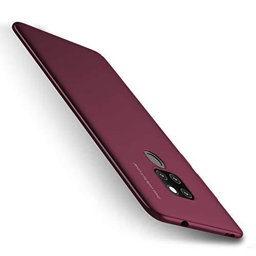 X-level Huawei Mate 20 Hülle, [Kinght Serie] Hart Handlich Premium PC Material Gutes Gefühl Handyhülle Schutzhülle für Huawei Mate 20 Case Cover - Weinrot Key-mate Light
