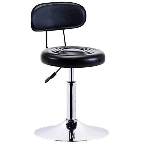 QQXX Barhocker Drehlift Fashion Hocker Beauty Chair Rückenhocker Büroarbeitshocker Beauty Salon Salon Hocker H?henverstellbar M?belzubeh?r (Farbe: Schwarz, Gr??e: 4163cm)