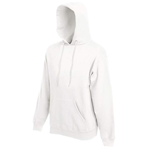 Fruit of the Loom Hooded Sweat Weiß - M Weiße Herren Pullover