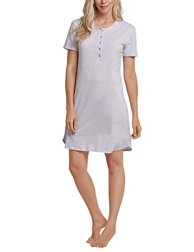Schiesser Damen Sleepshirt 1/2 Arm, 90cm Nachthemd, Blau (Lavendel 809), 42 (Herstellergröße: 042) -