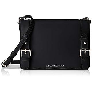 Armani Exchange Medium Shopping Bag With Belt, Women's Shoulder Bag, Black, 19x10x25 cm (B x H T)