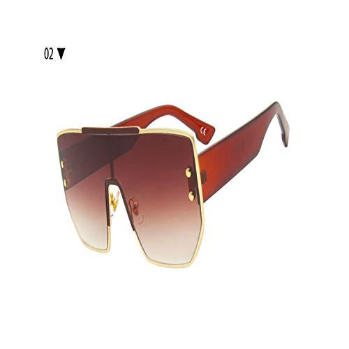 Sportbrillen, Angeln Golfbrille,NEW Luxury Square Sunglasses Women Vintage Brand Designe Oversized Sun Glasses Men Female Black Metal Shades UV400 02