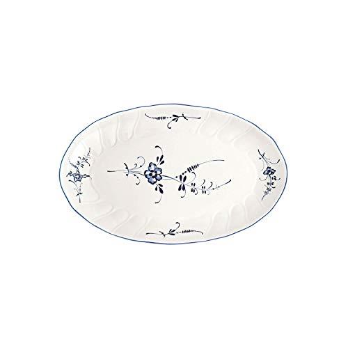 Villeroy & Boch Vieux Luxembourg Beilagenschale, Premium Porzellan, Weiß/Blau