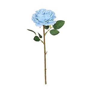 Dragonaur – Flor artificial para decoración de jardín, fiesta, hogar, boda, interior y exterior, color azul