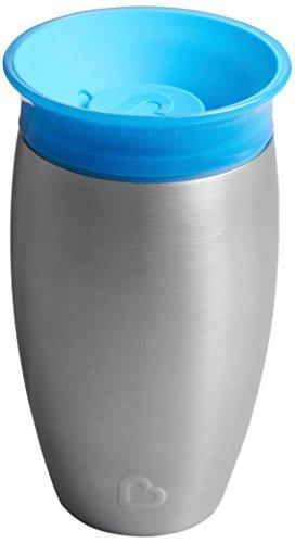 Munchkin Miracle 360° Edelstahl-Trinkbecher, auslaufsicher, ab 12 Monaten, blau, 296 ml