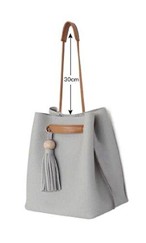 Borsa di nappa borse donna borsa a tracolla messenger-B B