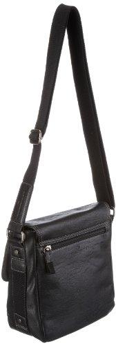 Tom Tailor Acc JANO Überschlagtasche 11631 60 Unisex-Erwachsene Schultertaschen 23x24x10 cm (B x H x T) Schwarz (schwarz 60)