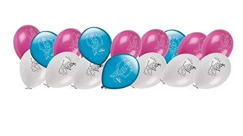 ALMACENESADAN 0686, Pack 16 Globos Disney Frozen; para Fiestas y cumpleaños. Ideal para Decorar Tus Fiestas.