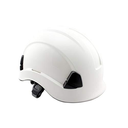 RKY Schutzhelm-ABS Arbeitsversicherung Baustelle Bau Schutzhelm Außenbelüftung Klettern Kletterhelm Anti-Kollisions-Isolationskappe /-/ (Color : White)