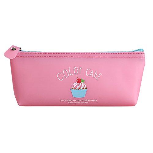Westeng stile penna Kit di Cartamodello di gelato Tela per matite con cerniera borsa per matite o Make-Up 17*8*3.5cm rosa
