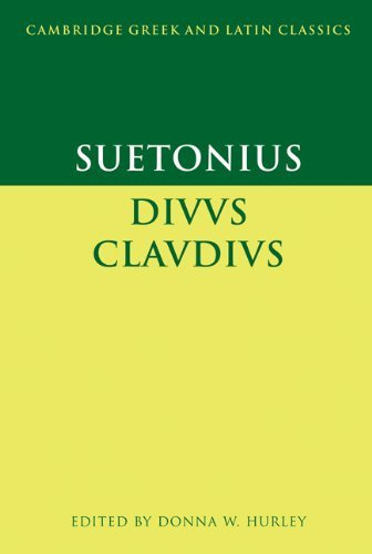 Suetonius: Diuus Claudius (Cambridge Greek and Latin Classics) by Suetonius (2001-03-19)
