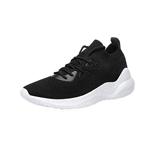 Schuhe Damen, Sneaker Damen Laufschuhe Schnürer Schuhe Gym Schuhe Wanderschuhe Atmungsaktive Outdoor Sportschuhe Mode Frauen Mesh Erhöhung Schuhe Soft Bottom Rocking Shoes Sneakers