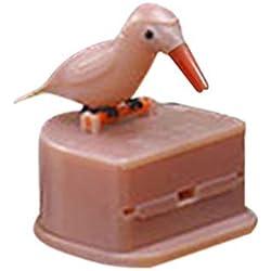 Hiroo Distributeur de Cure-Dents Mignon Colibri Dents de Nettoyage de Cadeau bâillon Gag en Forme d'oiseau Porte Couleur Amusant et décoratif Plastique