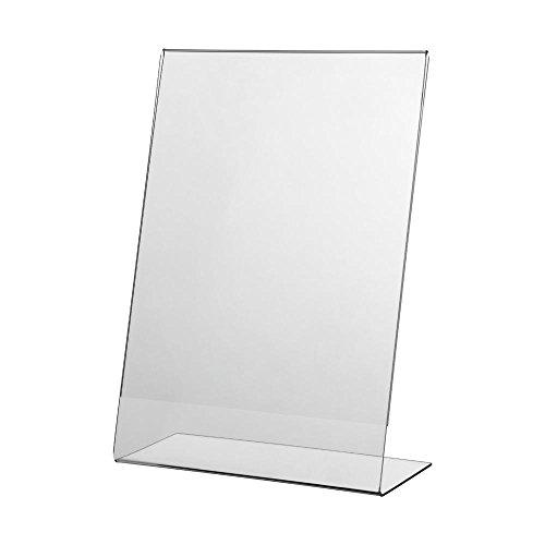 Sparset - Vorteilspack 10 x Acryl-L-Ständer DIN A5 - Hochformat - Tischaufsteller - Prospekthalter - L-Ständer aus Acryl - Werbeaufsteller - auch nutzbar als Bilderrahmen - Acrylglas L-Ständer