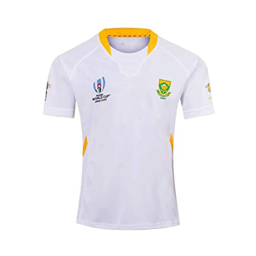 Pilang Männer Casual Rugby Kleidung, Rugby World Cup, Team South Africa, American Football Sport (Color : White, Size : L)