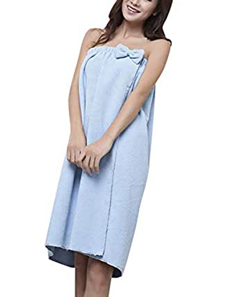 e61742b302 Vdual Women Towel Wrap Highly Absorbent Terry Soft Sarong Towel Shower Spa  Beach Gym Towelling Robe Cover up Dress (140 * 75 cm): Amazon.co.uk:  Clothing