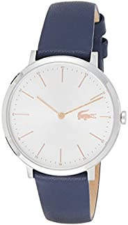 Lacoste Moon Women's White Dial Leather Band Watch - 2000986, Analog Display, Quartz Move