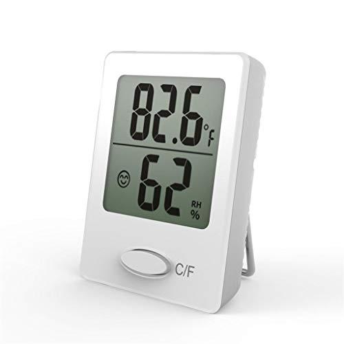 MLWTB Mini-Temperatur-Hygrometer, für den Innenbereich, digitales Display, Hygrometer, kleine Tisch-Wandmontage, Thermometer Hygrometer (ohne Batterie) weiß -
