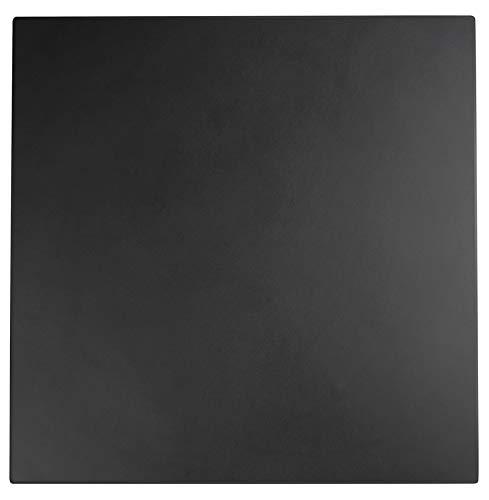 Alterego Plateau de Table 'Punto' carré Noir intérieur/extérieur - 70x70 cm