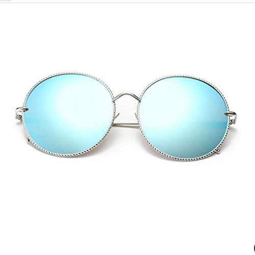 SWIMMM Retro Runde Sonnenbrille Stil Sonnenbrille Vintage Look Qualität UV400 Sonnenbrille Brille Männer Frauen Unisex Classic Eyewear (Farbe : Blau)