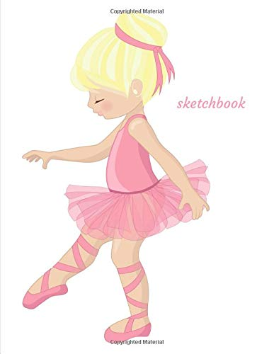Sketchbook: A Pink Ballerina Dancer Themed Personalized Artist Sketch book Notebook and Blank Paper for Drawing, Painting Creative Doodling or Sketching. por Jaz Kiddies Books