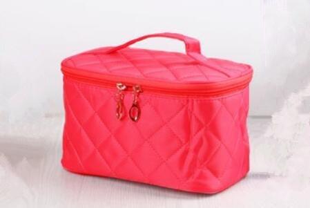LDMB Damen-handtaschen Niedliche Portable Faltung wasserdichte Eintritt Paket Make-up Fall medium red