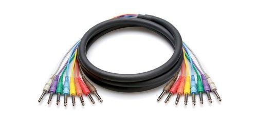 Hosa cable 1/102 1/102 8canali serpente 6.6 Feet Nero