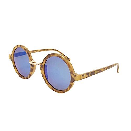 Sonnenbrille Round Classic Revo Style 400UV verspiegelt Metallbogensteg Braun