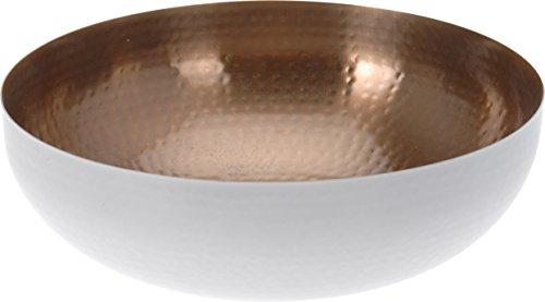 Dekoschale 21 cm lebensmittelecht weiß kupfer Schale Teller Deko Dekoteller