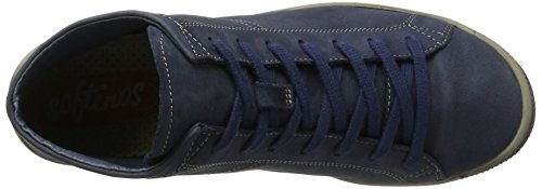 Softinos Damen Isleen Washed Hohe Sneaker Blau (Navy)