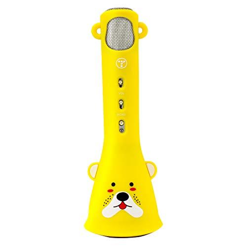TOSING Karaoke-Mikrofon für Kinder drahtlose Mikrofon Singing Machine kompatibel zu iPhone/iPad/Tablet/Android Smartphone, das beste Geschenk für Jungen und Mädchen Geburtstag (Zitronengelb)