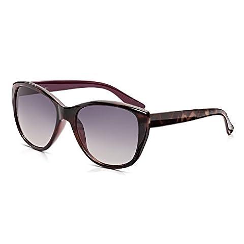 Sunglass Junkie Womens Cat Eyes Sunglasses. 100% UV Protection. Mulberry