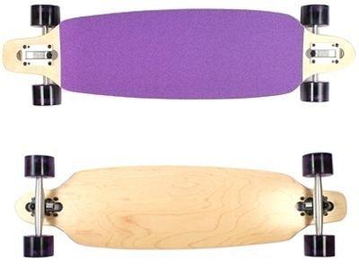 Moose Longboard Cruiser Skateboard Drop Through Purple Grip Complete Longboard 36 X 9 inch