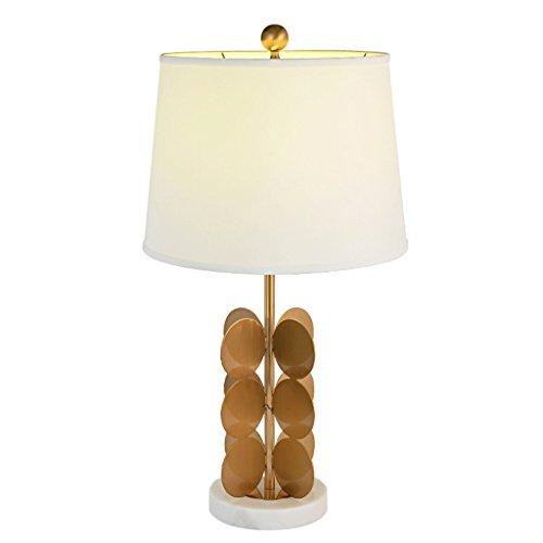 Runde Boden Outlet (SLH Postmodern, einfache Runde Blatt Metall Wohnzimmer Schlafzimmer Villa Tuch Tischlampe)
