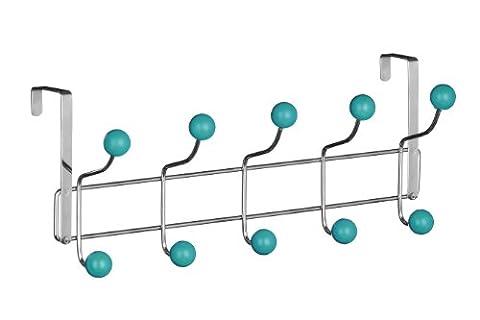 Premier Housewares 10 Hook Over Door Hanger - Turquoise