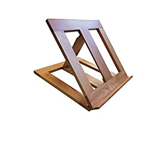 Adjustable Arian Table Lectern White Black Silver Wooden Holder Easel Notebook church Bible book & missal Display Stand (Beech Wood)