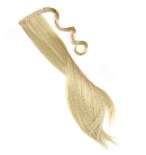 Haarteil in goldblond Zopf Pferdeschwanz glatt 60 cm zum anklipsen Haarverlängerung Pony lange Haare