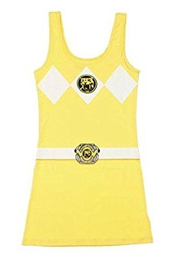 Power Rangers The gelb Tunic Tank Kleid With Socken (Junior (Power Kleid Ranger)