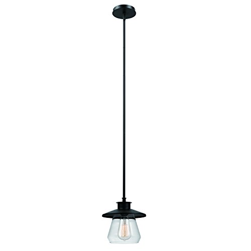 Globe Glühbirne (Globe Electric Moderne Hängeleuchte in Industrie-Optik mit 1 Lampe, eingeölte Bronzeoberfläche, 1x 60W max. E27 Glühbirne (separat erhältlich))