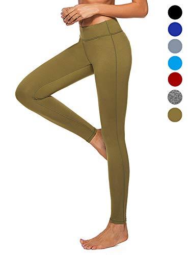 dh Garment leggins für damen hohe Taille mit Bundtasche – Bauchkontrolle (Größe L)