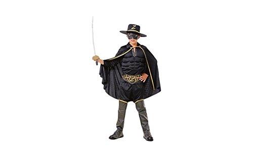 Topwell Zorro Kostüm Kinder 5+, Schwarz, 375397