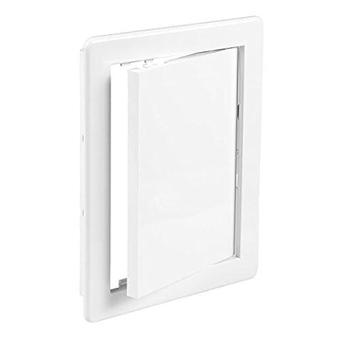 Trappe d'accès, 250 x 330 mm (10 x 13 mm) en plastique ABS Blanc
