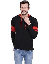 VIMAL JONNEY Cotton Black Full Sleeve Hoodie Tshirt for Men