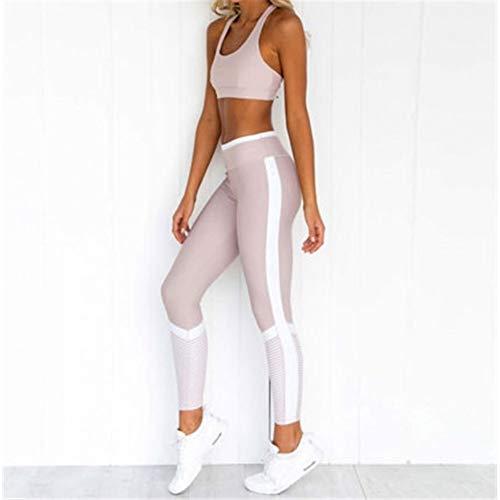 Top-scrunch (WYLYJTZ Yogahosen 2 stück Set Frauen Sport Anzug trainingskleidung Langarm Fitness Bauchfreies top und Scrunch Butt Leggings Yoga Set)