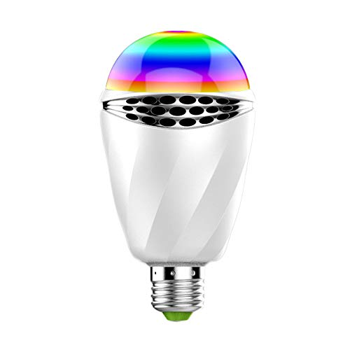 LED Bluetooth Lautsprecher Light Bulb Wireless E27APP Smart Home Colorful Bulb Speaker Dimmable Smartphone App Control Music Player for Family and Night Party RGB Night Light Disco-Party Ball-Lichter