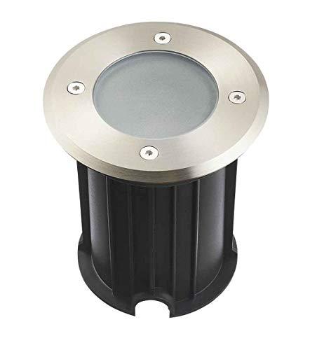 Einbaustrahler, rund, Edelstahl 316L, satiniertes Glas, Orlando GU5.3, IP67, 12 V, außen HIPOW