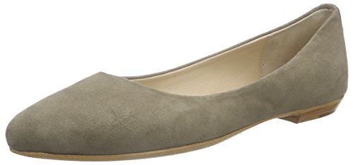 Fred de la BretoniereFred pointy ballerina leather sole 1/2 sacchetto made Delhi - Ballerine Donna , Grigio (Grigio (grigio)), 39