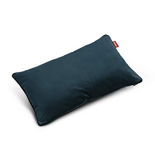 Fatboy 103112 King Pillow Coussin en Velours Bleu pétrole 66 x 40 cm